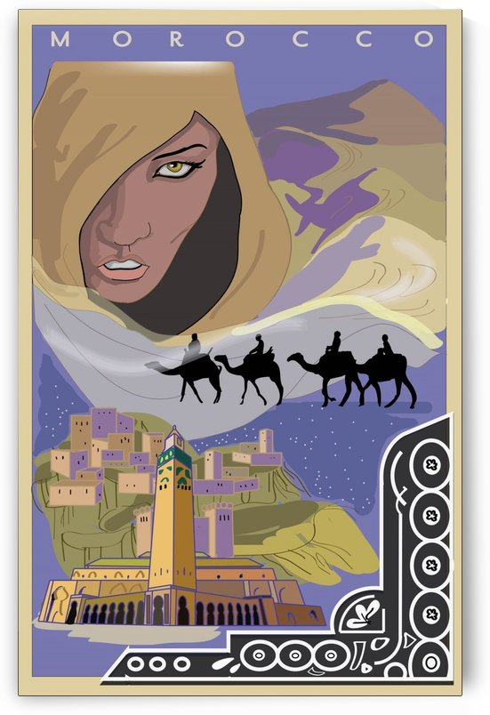 Morocco travel poster by VINTAGE POSTER