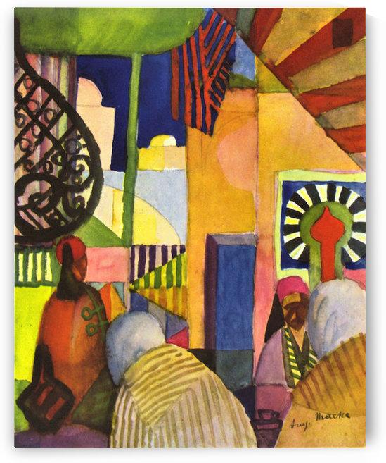 In the bazaar by August Macke by August Macke