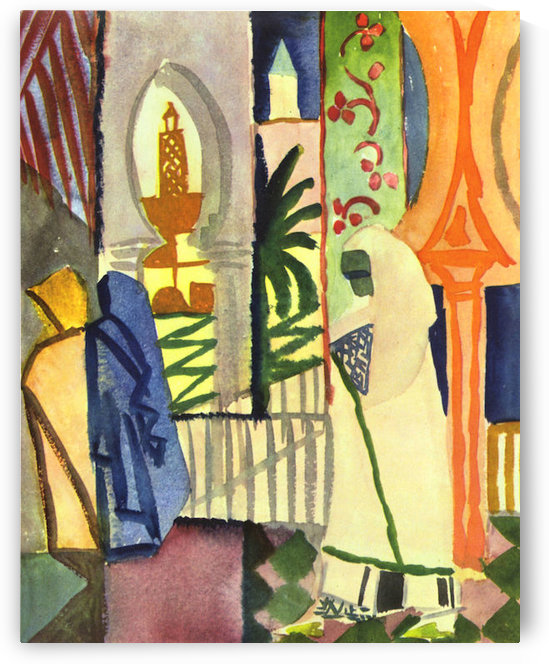 In the temple hall -1- by August Macke by August Macke