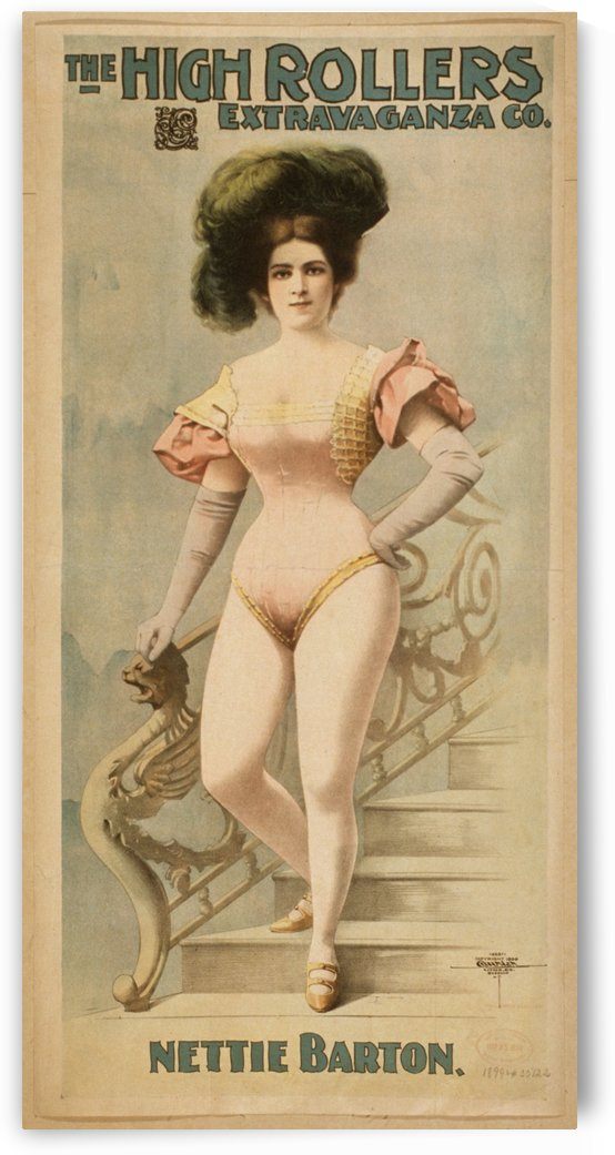 Burlesque Nettie Barton poster 1899 by VINTAGE POSTER
