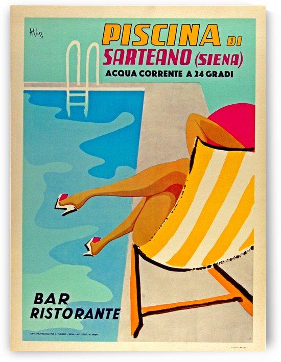 Piscina di Sarteano vintage poster by VINTAGE POSTER