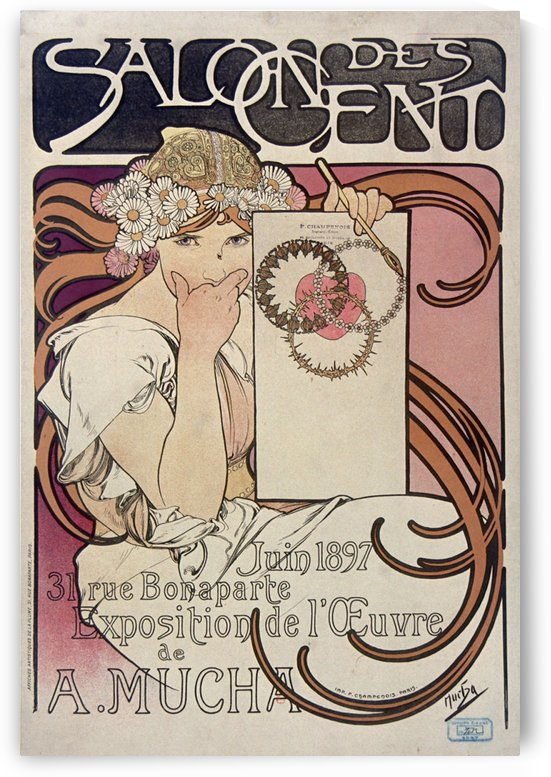 Salon des Cent, June 1896 by VINTAGE POSTER