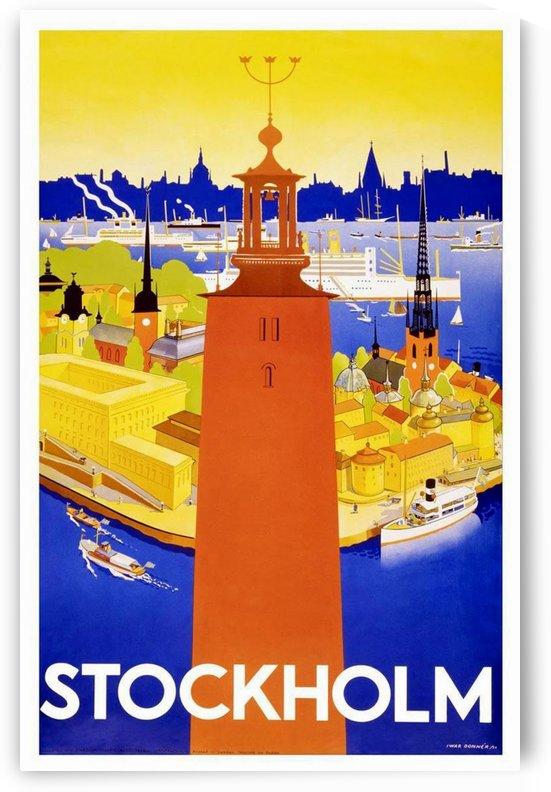 Stockholm travel poster by VINTAGE POSTER