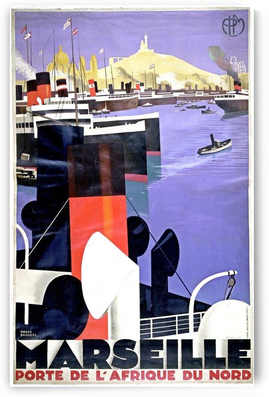 Marseille vintage travel poster by VINTAGE POSTER