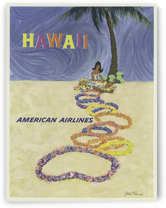 American Airlines Hawaii Poster by VINTAGE POSTER