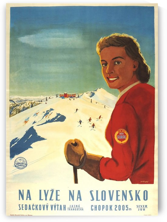 Slovakia vintage travel poster by VINTAGE POSTER