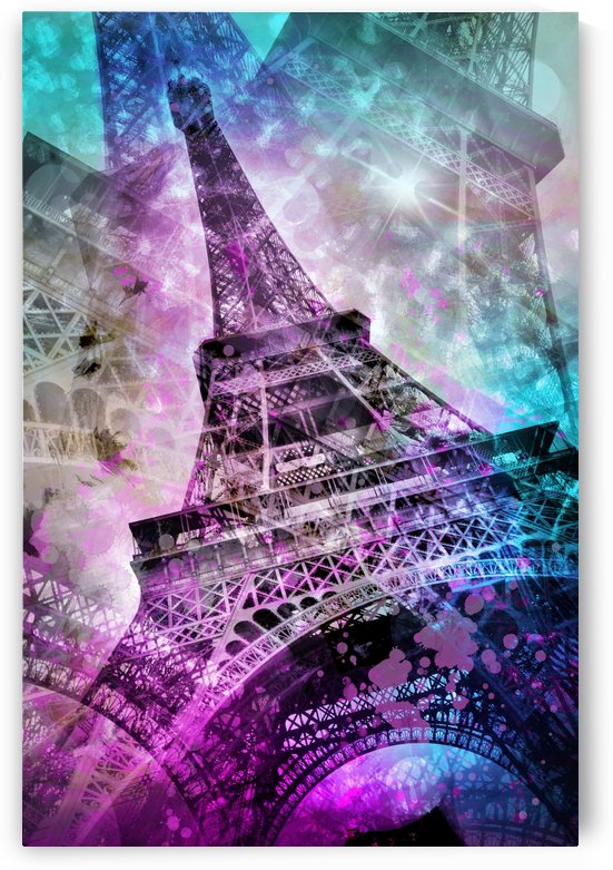Pop Art Eiffel Tower by Melanie Viola