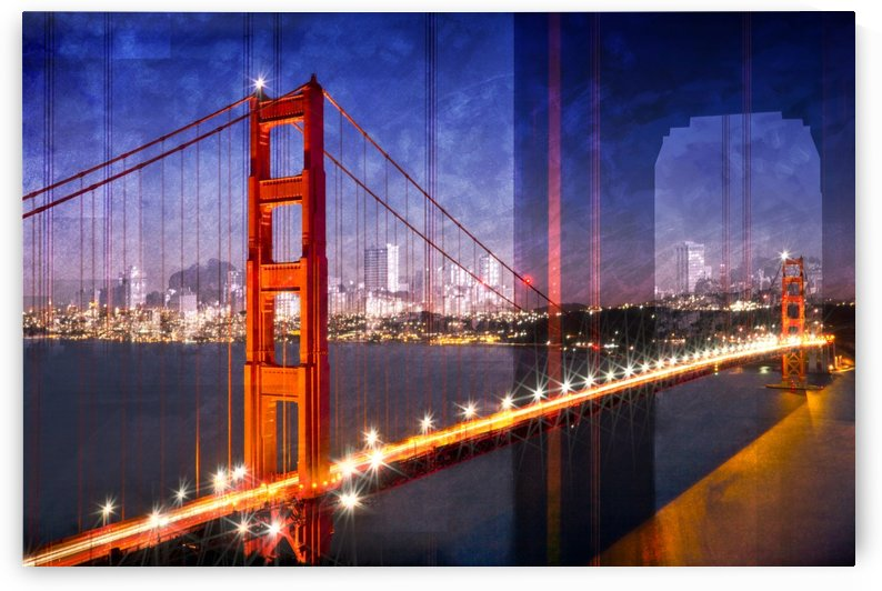City Art Golden Gate Bridge Composing by Melanie Viola