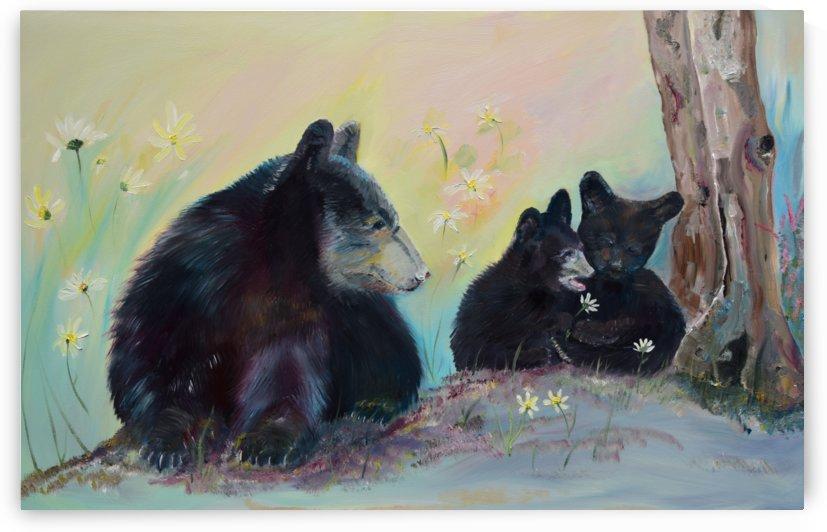 Bears Frolicking in Spring by Jan Kornegay Dappen