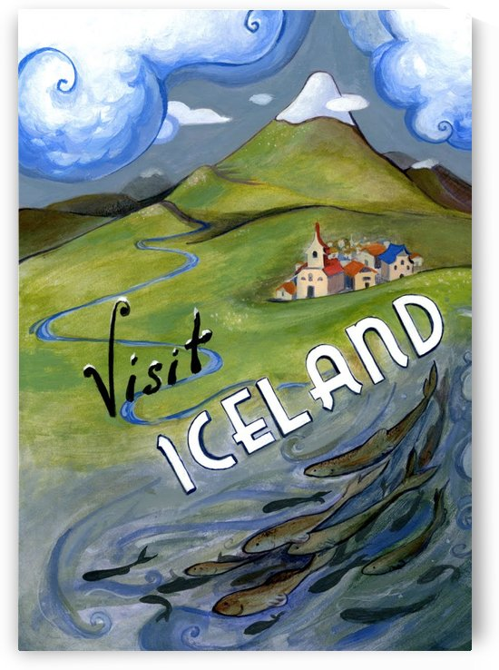 Visit Iceland travel poster by VINTAGE POSTER