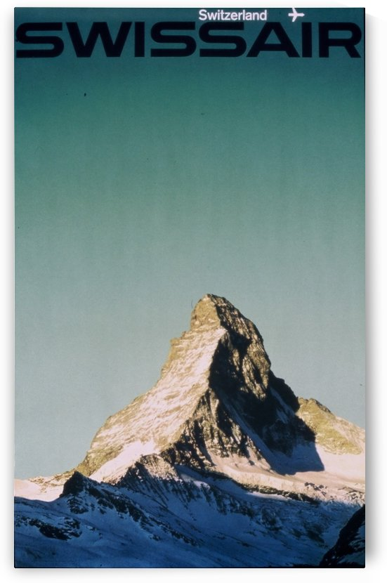 Swissair poster for Switzerland by VINTAGE POSTER