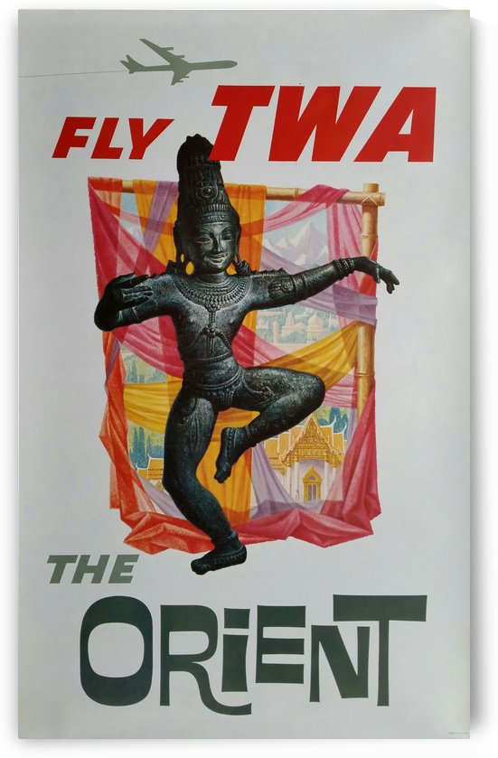 Original vintage poster Fly TWA The Orient by VINTAGE POSTER