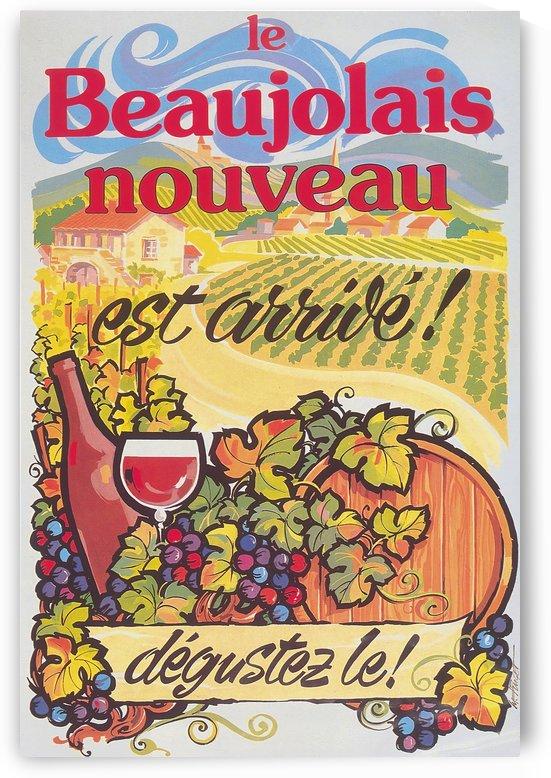 Le Beaujolais nouveau est arrive poster by VINTAGE POSTER