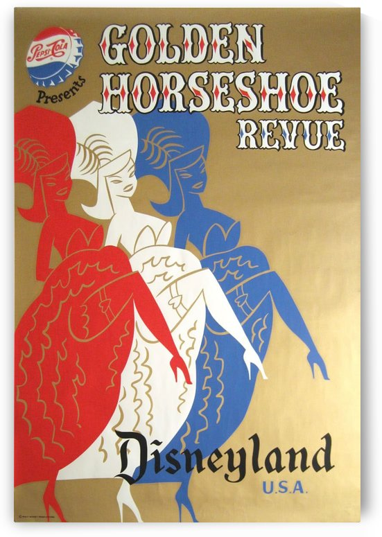Golden Horseshoe Revue Disneyland USA by VINTAGE POSTER