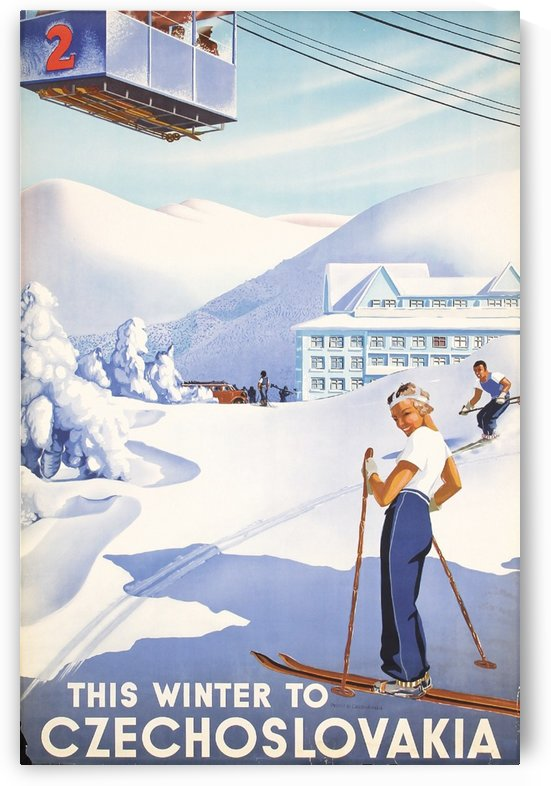 This Winter to Czechoslovakia poster in 1930 by VINTAGE POSTER
