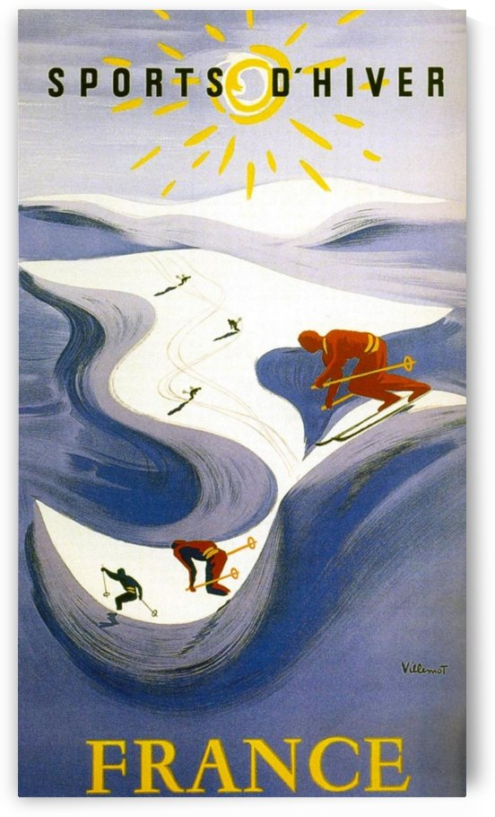 Winter Sports in France by VINTAGE POSTER