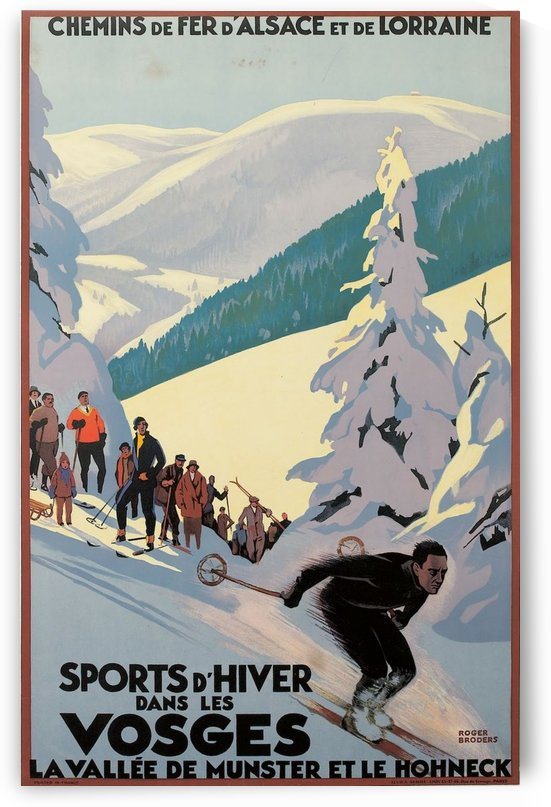 Winter Sports in France Vintage Poster by VINTAGE POSTER