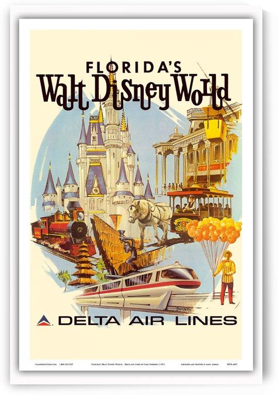 Florida Walt Disney World Delta Air Lines Poster by VINTAGE POSTER