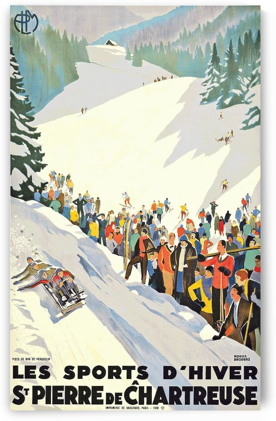 1930 Winter Sports poster by Roger Broders by VINTAGE POSTER