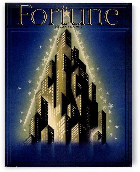 Fortune December 1937 Vintage Cover Poster by VINTAGE POSTER