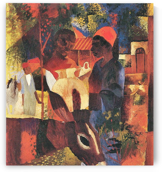 Market in Tunisia by August Macke by August Macke