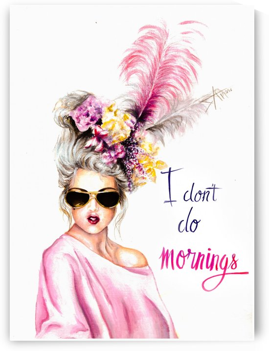 I don't do morning by Salma Nasreldin