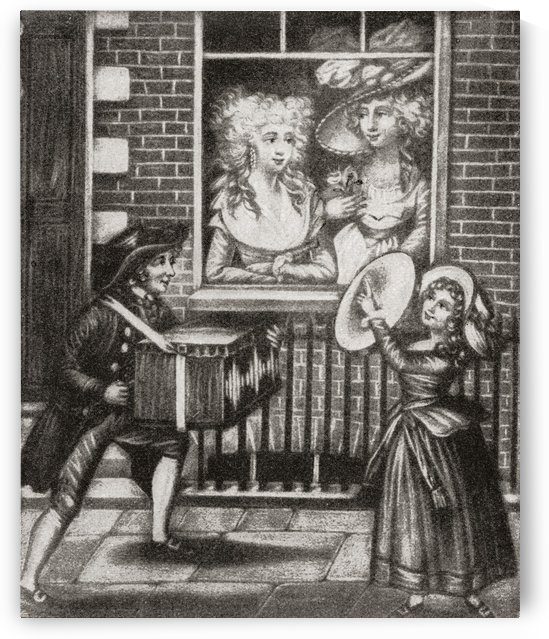 Two prostitutes look out of the window of an 18th century English brothel. From Illustrierte Sittengeschichte vom Mittelalter bis zur Gegenwart by Eduard Fuchs, published 1909. by PacificStock