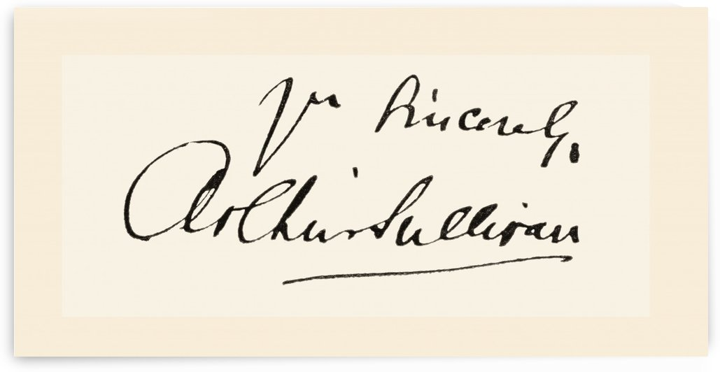 Signature of Sir Arthur Seymour Sullivan, 1842 by PacificStock