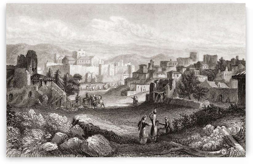 Bethlehem, Palestine in the 19th century. From a 19th century print. by PacificStock