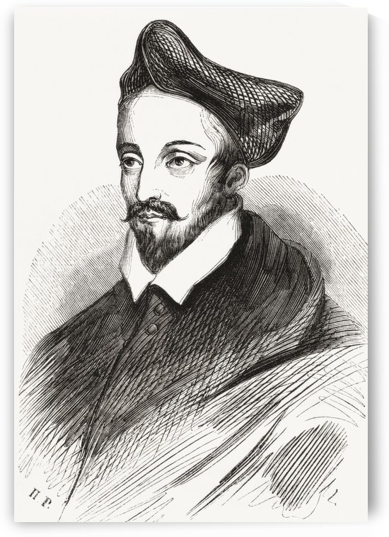 Louis II de Lorraine, Cardinal of Guise, 1555-1588. From Le Magasin Pittoresque, published 1843. by PacificStock