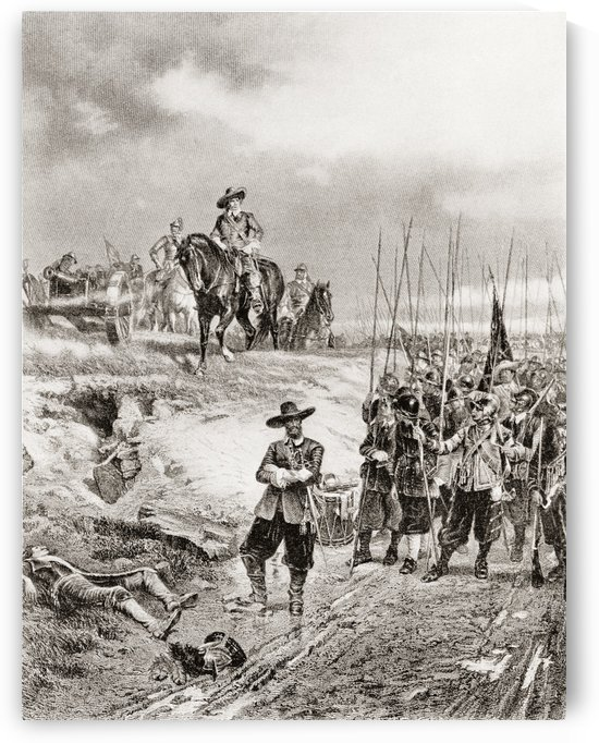 Oliver Cromwell at the Battle of Marston Moor, 2 July 1644, during the First English Civil War. by PacificStock