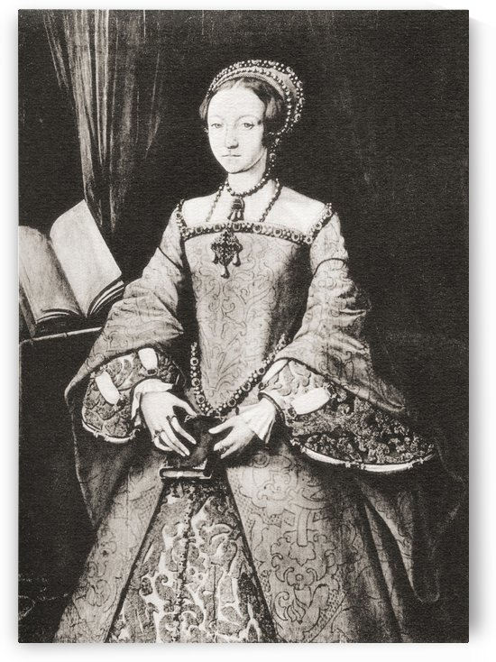 The lady Elizabeth, aged thirteen, later Elizabeth I, 1533 by PacificStock