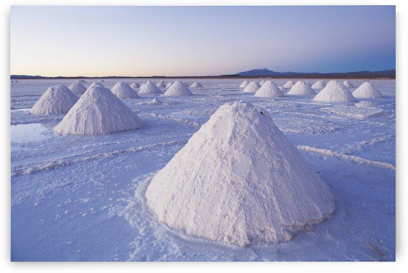 Salt harvest on Salar de Uyuni; Bolivia by PacificStock