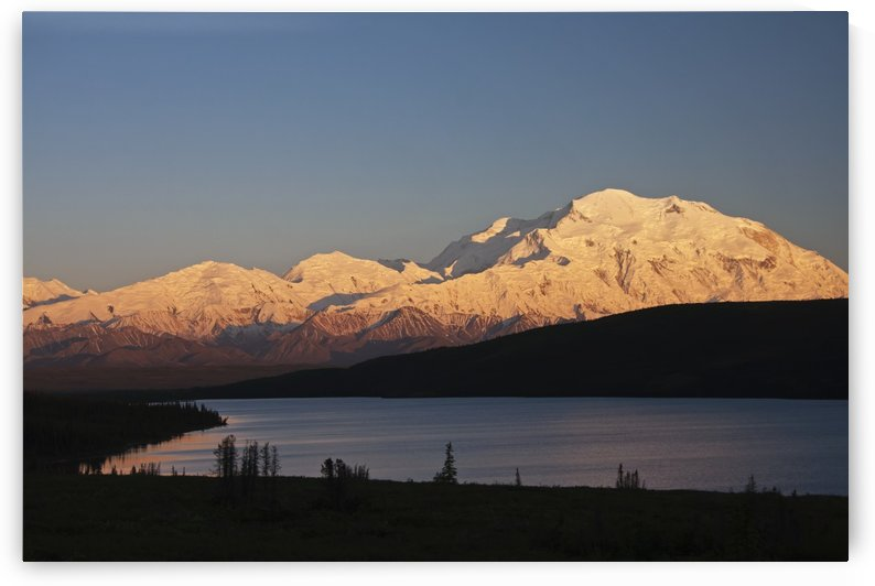 Sunset scenic over Wonder Lake and Mt. McKinley, Denali National Park, Interior Alaska by PacificStock