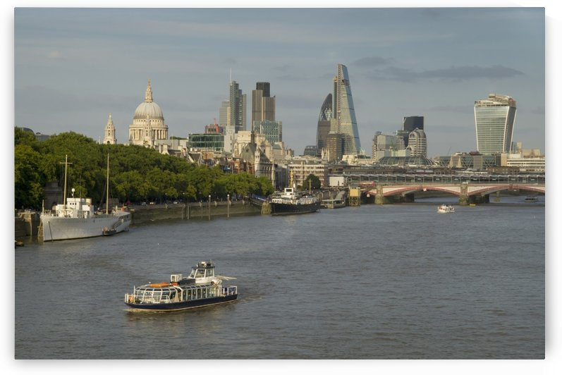 Cityscape across Waterloo Bridge; London, England by PacificStock