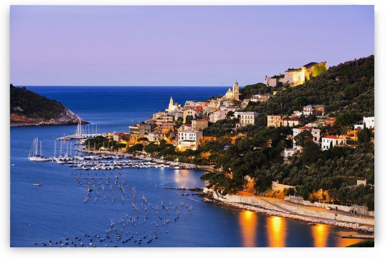 Porto Venere at dawn; Porto Venere, Liguria, Italy by PacificStock