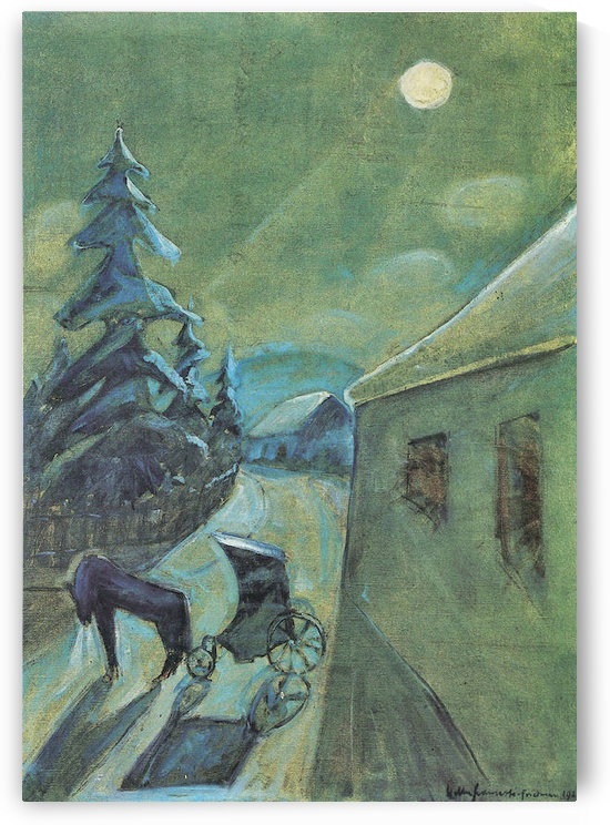 Moonscape with horse by Walter Gramatte by Walter Gramatte