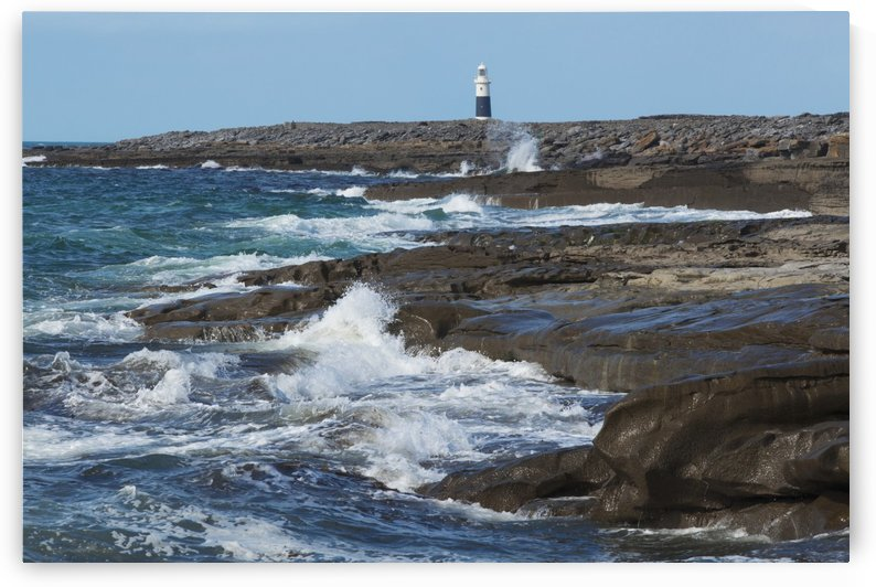 Lighthouse; Inisheer, Aran Islands, County Galway, Ireland by PacificStock