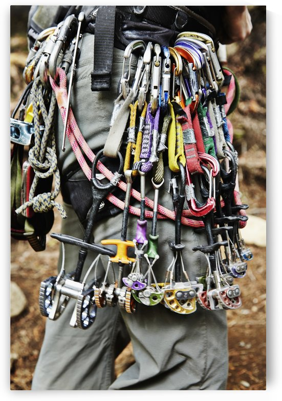 Rock climbing equipment in the Adirondacks; New York, USA by PacificStock