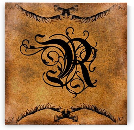 Beautiful Monogram Letter R by George Cuda