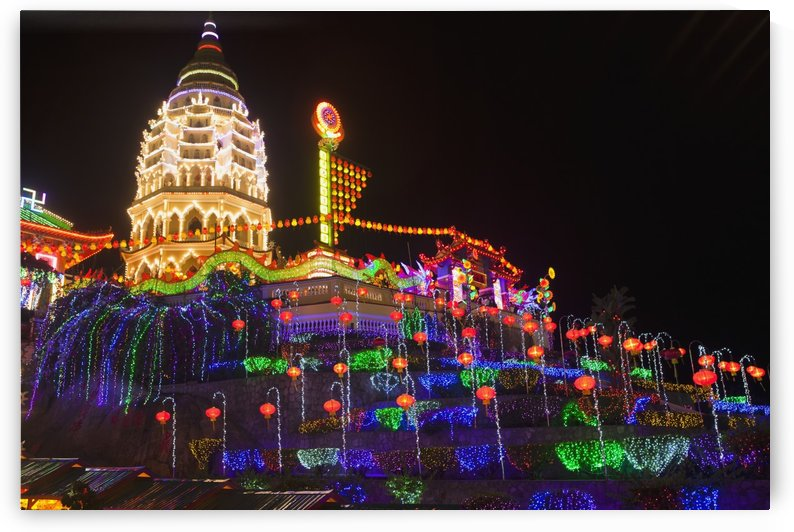 The fantastic lighting of Kek Lok Si Temple; Penang, Malaysia by PacificStock