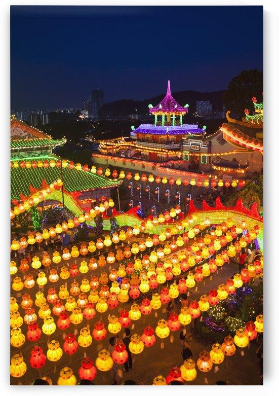 The fantastic lighting of Kek Lok Si Temple; Penang, Malaysia by PacificStock