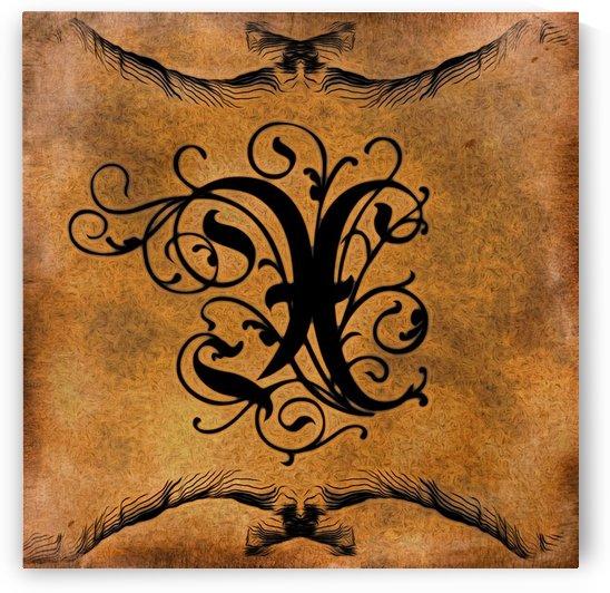 Beautiful Monogram Letter X by George Cuda