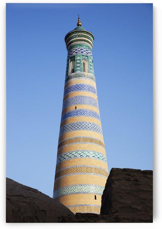 Islam Khoja minaret, inside Ichan Kala Old City; Khiva, Khwarezm, Uzbekistan by PacificStock