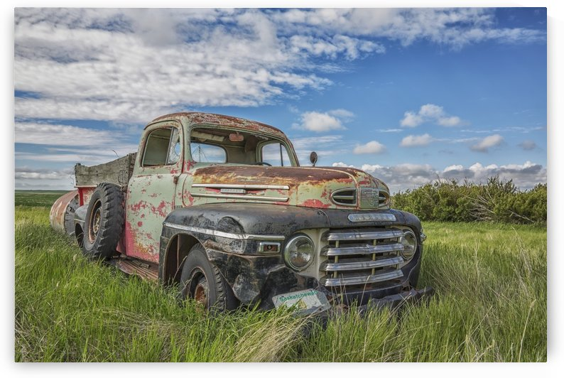Abandoned truck in a rural area; Saskatchewan, Canada by PacificStock