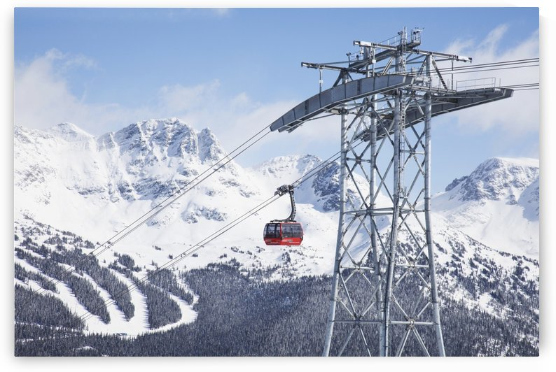 Peak 2 Peak gondola which runs between the high alpine of Whistler and Blackcomb Mountains; Whistler, British Columbia, Canada by PacificStock
