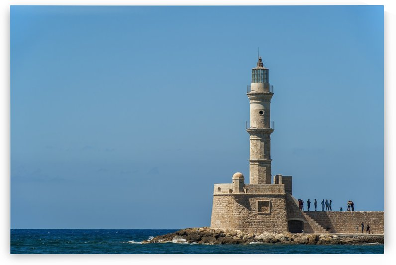Lighthouse in the Venetian harbour; Chania, Crete, Greece by PacificStock