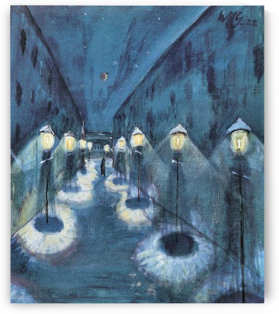 Night road by Walter Gramatte by Walter Gramatte