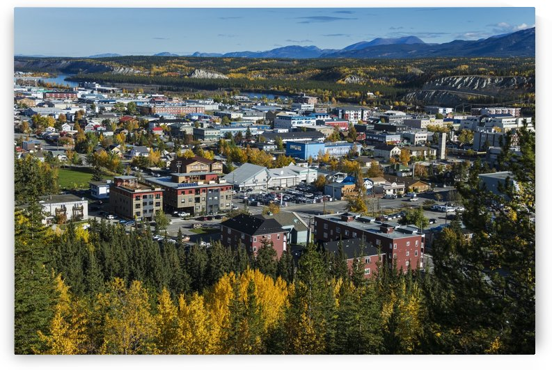 Scenic view over Whitehorse, Yukon Territory, Canada by PacificStock