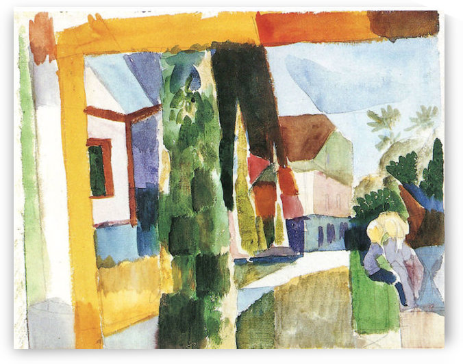 Our garden on the lake (IV) by August Macke by August Macke